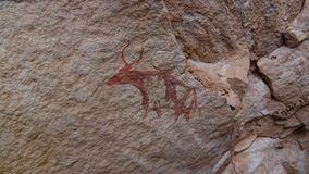 Grottamålningar och petroglyphs i den Tassili nAjjernationalparken, Algeriet arkivbilder