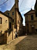Grottammare`s square, Marche royalty free stock photo