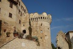 Grottammare velho, região de marche, Italy imagens de stock