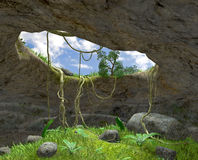 Grottan royaltyfri illustrationer