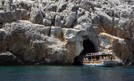 grottan piratkopierar Arkivbilder