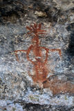 grottapictographfjäder Royaltyfri Bild