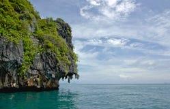 grottasmaragdthailand trang Fotografering för Bildbyråer