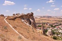 Grottastad i Cappadocia Arkivfoto