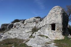 grottastadseskien kermen arkivbilder