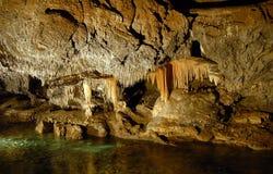 grottastalactite Arkivfoton