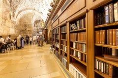 Grottasynagoga i Jerusalem, Israel Arkivbilder