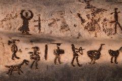 Grottateckningar i den Magura grottan, Bulgarien Royaltyfri Bild