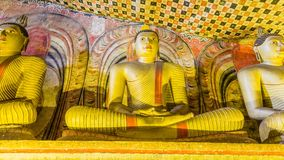 Grottatempelkomplex i Dambulla, Sri Lanka Royaltyfria Foton