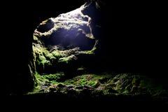 grottautgång Arkivfoton