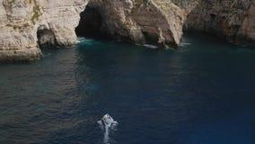 Grotte bleue banque de vidéos