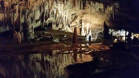 Grotte de Ла Cocalière Стоковое фото RF