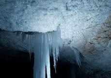 Grotte de caverne de Golubinskaya Photos stock