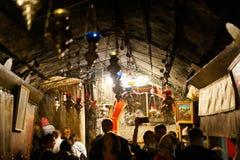 Grotte des Geburt Christis stockfotos