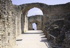 Grotte di Catullo -加尔达 免版税库存照片