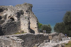 Grotte di Catullo -加尔达 免版税图库摄影