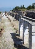 grotte Di Catullo Roman Remainsat Sirmione 免版税图库摄影
