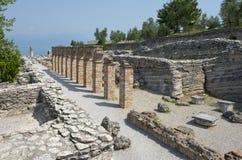 Grotte Di Catullo Romare Remainsat Sirmione arkivbild