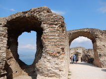 Grotte Di Catullo, Sirmione, λίμνη Garda Στοκ εικόνες με δικαίωμα ελεύθερης χρήσης