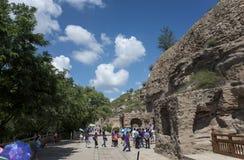 Grotte di Datong Yungang Fotografie Stock