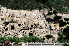 Grotte di Longmen, ¼ ŒChina di ŒAsiaï del ¼ di Luoyang, Henan Provinceï fotografie stock libere da diritti