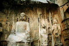 Grotte di Longmen immagine stock libera da diritti