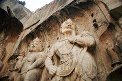 Grotte di Longmen immagine stock