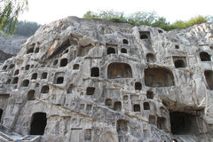 Grotte di Longmen Fotografie Stock