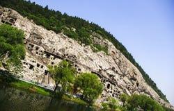 Grotte di Longmen, Luoyang, Cina Fotografie Stock