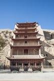Grotte di Mogao, Dunhuang, Gansu della Cina Immagine Stock