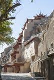 Grotte di Mogao, Dunhuang, Gansu della Cina Fotografia Stock Libera da Diritti
