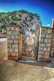 Grotte di Nettuno entrance in Capo Caccia Royalty Free Stock Photo