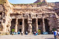 Grotte di Yungang Fotografia Stock