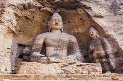 Grotte di Yungang Immagini Stock Libere da Diritti