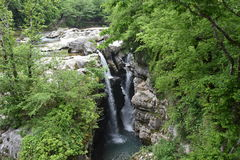 Grotte, Martvili-Schlucht, Georgia Stockfotos