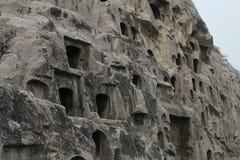 grotte Uomo-scolpite a Luoyang, Cina Fotografia Stock Libera da Diritti