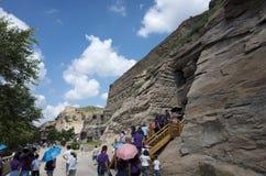 Grotten Datongs Yungang Stockbilder