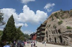 Grotten Datongs Yungang Stockbild