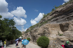 Grottes de Datong Yungang Images libres de droits