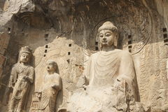 Grottes de Longmen Photos stock
