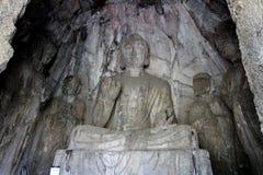 Grottes de Longmen Images libres de droits