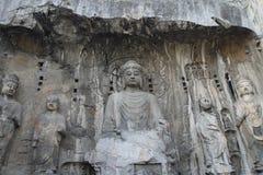 Grottes de Longmen Photos libres de droits