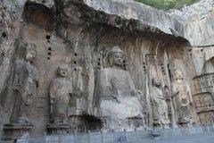Grottes de Longmen Photographie stock libre de droits