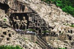 Grottes de Longmen, Luoyang, Chine Image libre de droits