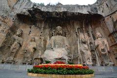 Grottes de Longmen Près de Luoyang, province de Henan La Chine Photos libres de droits