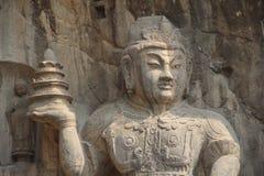 Grottes de Longmen province à Luoyang, Henan, parc de la Chine Images libres de droits