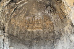Grottes de Longmen province à Luoyang, Henan, parc de la Chine Image libre de droits