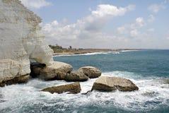 Grottes de Rosh Hanikra Photographie stock
