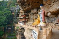Grottes de Shi Zhongshan Photo libre de droits