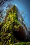 Grotto, ένας τεχνητός καταρράκτης Malievtsy, περιοχή Khmelnitsky, Στοκ Φωτογραφία